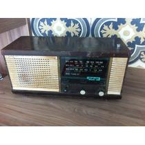 Rádio Antigo Teleotto Cx Madeira Funcionando Som Nítido Raro