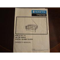 Manual De Instruções Radio Digital Alarme Sanyo Tpm 2100