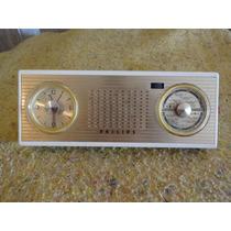 Radio Philips Antigo C/ Relogio Lindo Holandes-philco-zenith