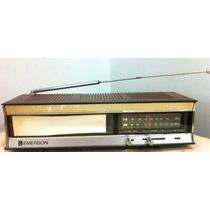Rádio Antigo Emerson Model Dcf-10 Fm Am Funcionando