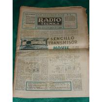 Jornal Sobre Radios E Tvs Anos 50 Argentina