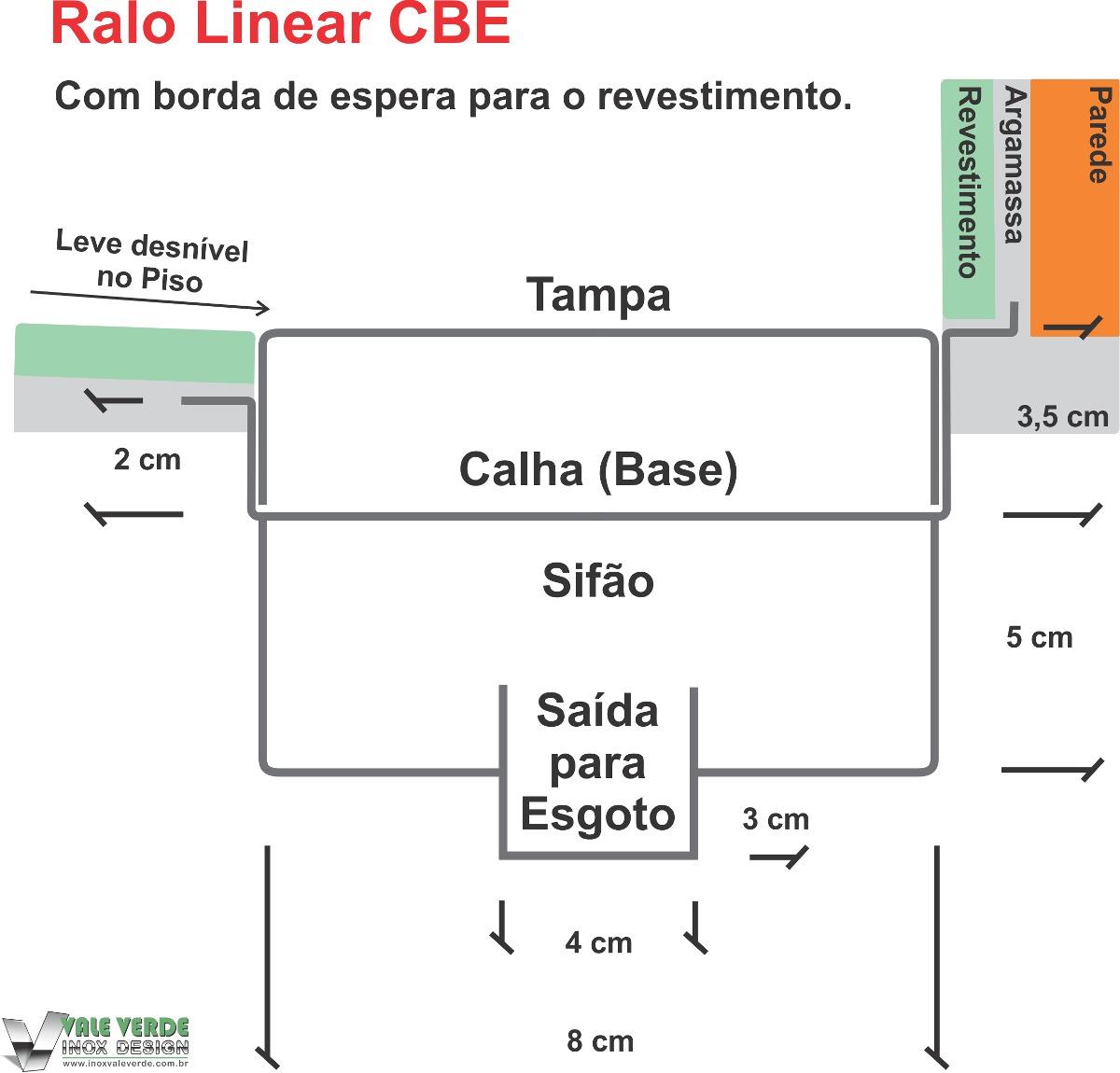 Ralo Linear 90 Cm 100% Inox Box Banheiro Sifonado Seca piso R$ 320  #C0580B 1200 1150