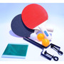 Kit Ping Pong 2 Raquetes 3 Bolas E 1 Rede De Tênis De Mesa.