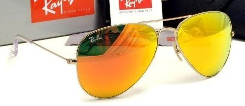 90550c2246f29 low price ray ban aviator 3025 lente amarela espelhada c2b24 df812