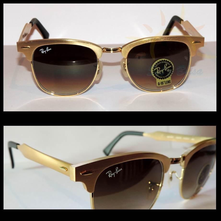 O vintage encontra-se moderno com o Ray-Ban Clubmaster Aluminum. Remodelado  do Clubmaster original, estes óculos de sol futuristas apresentam material  de ... 84230e3578