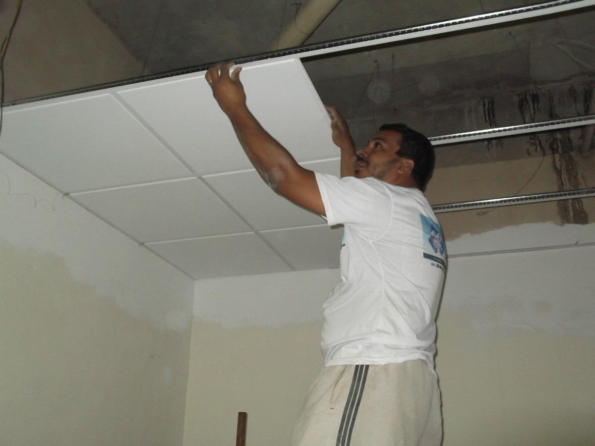 Rebaixamento Em Gesso Drywall R$ 65 00 no MercadoLivre #5F4B39 1200 900