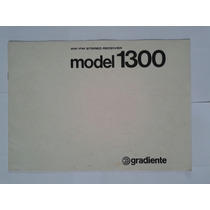 Manual Original Receiver Gradiente Model 1300