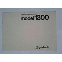 Manual Original Receiver Gradiente Model 1300