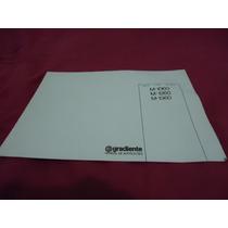 Manual Receiver Gradiente 1060/1260/1360 - Cópia Encadernada