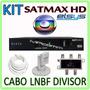 Kit Multiponto Receptor ( H D T V ) + Lnbf + Cabo + Divisor