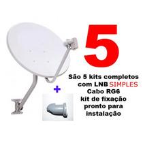 Antena Banda Ku 60cm 5 Kits Completos