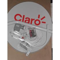Antena 60cm Banda Ku/lnb + 20m Cabo/kit Fixação