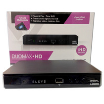 Receptor Elsys Duomax Hd Analógico E Digital Hd + Cabo Hdmi
