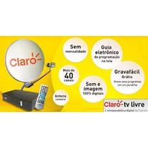 Kit Claro Tv Livre Receptor - Antena Completa + 20 Mtrs Cabo