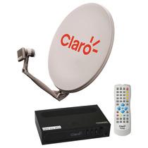 Claro Tv Livre Receptor Mais Kit Antena Pronta Para Instalar