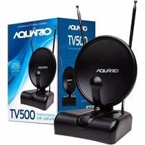 Antena Digital Hdtv/uhf/vhf/fm Interna Tv500 Aquário - Nova