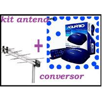 Kit Conversor E Antena Digital Aquario Dtv5000