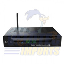 Receptor Audisat A3, Atualizado, Full Hd Hdmi Wifii Tv Usb
