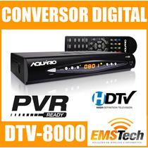 Conversor Digital Aquario Dtv-8000 Função Gravador Cabo Hdmi