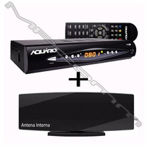 Kit Conversor Tv Digital Gravador H D T V + Antena Interna