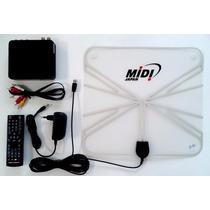 Kit Antena E Conversor Tv Digital ( Hdtv ) P/ Canais Abertos