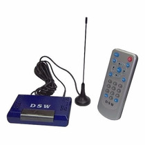 Receptor De Tv Digital Automotivo Dsw Antena Para Dvd Carro