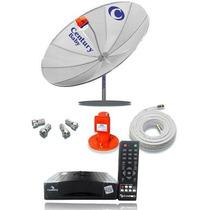 Frete Grátis Antena Parabolica Century Completa + Receptor