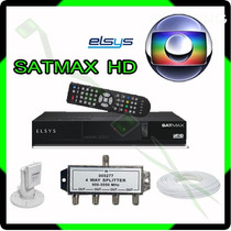 Kit Receptor Elsys Satmax + Lnbf Multiponto + Divisor + Cabo
