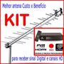 Kit Tv Digital Hdtv Conversor + Antena Externa P/ Canais Hd