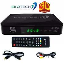 Conversor Tv Digital Hdtv Ekotech Zbt 670n Cabo Hdmi Av
