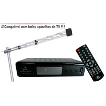 Kit Conversor Receptor Tv Digital Usb Hdmi + Antena Externa