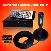 Conversor Tv Digital Hdmi + Antena Digital 3.5db Uhf 360º Fg