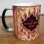 Caneca Térmica Mágica Porcelana Harry Potter Mapa Maroto