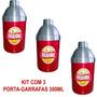 Porta Garrafa Cerveja 300ml Aluminio Isopor Brahma Kit Com 3