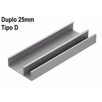 0437- Canaleta Perfil Duplo 25 D Branco Liso Dutotec