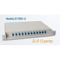 Dio 12 Fibras-distribuidor Interno Óptico +pigtail +conector