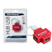 Hub Mymax Mswi-usb409/rd 4 Portas Usb 2.0 Vermelho