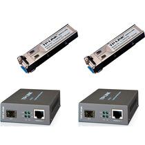Kit Conversor Fibra Ótica Mc220l + Gbic Sm321a +sm321b