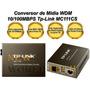 Conversor Midia Fibra Ótica Wdm 10/100mbps Tp-link Mc111cs