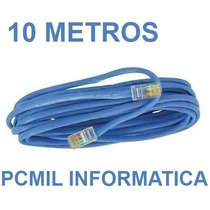 Cabo De Rede Cat5 Ethernet 10 Metros Internet Pronto P/ Usar