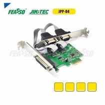 Placa Pci-e Impressora 2p Serial + 1 Porta Paralela Jpp-04