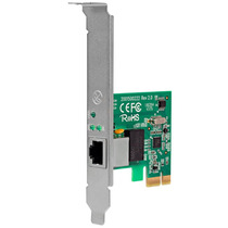 Placa De Rede Peg232 10/100/1000 Mbps Ethernet Intelbras Pci