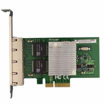 Placa De Rede Pci-e X4 Quad 4 Portas Giga Chip Intel 82580