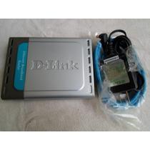 D-link Di-604 Ethernet Broadband Router Com Fio - Novo
