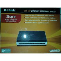 Roteador D-link Cabeado 4 Portas 10/100mbps Dir-100