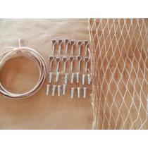 Kit Rede Equiplex Tela De Proteção Janela Sacada Cor Areia