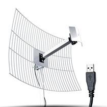 Antena Usb Aquario 20dbi 10m Cabo 2.4ghz