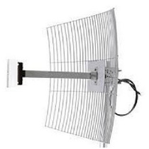 Mm-2425f1 Antena Parábola De Grade 2.4 Ghz 25 Dbi C/ Cabo 1m