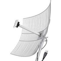 Antena Aquário Usb Parábola De Grade Usb-2510 2.4 Ghz 25 Dbi
