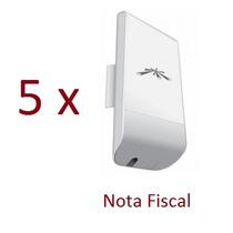 Kit Com 5 Nanostation Loko M5 Ubiquiti Fonte E Nota Fiscal